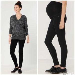 ag jeans | maternity black high rise skinny jeans